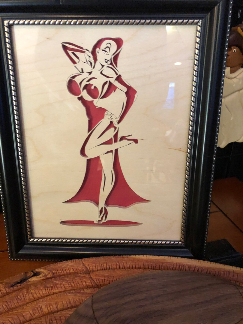 Jessica Rabbit framed  $45.