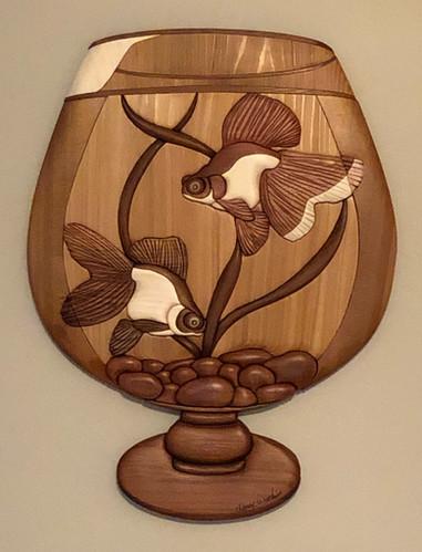 Intarsia Goldfish Bowl   $285.