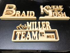 Fret Work Desk Top  plaques