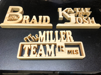 Fret Work Desk Top  plaques