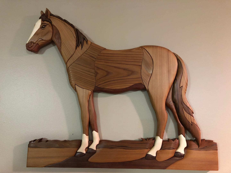 Intarsia Stallion   $285.