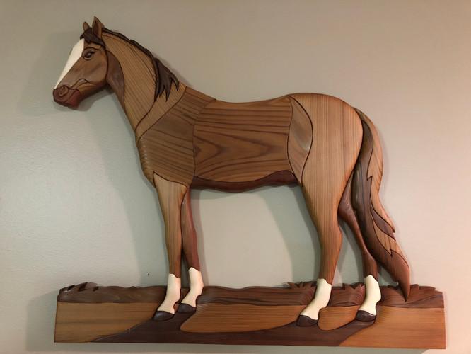 Intarsia Stallion   $285.   SOLD