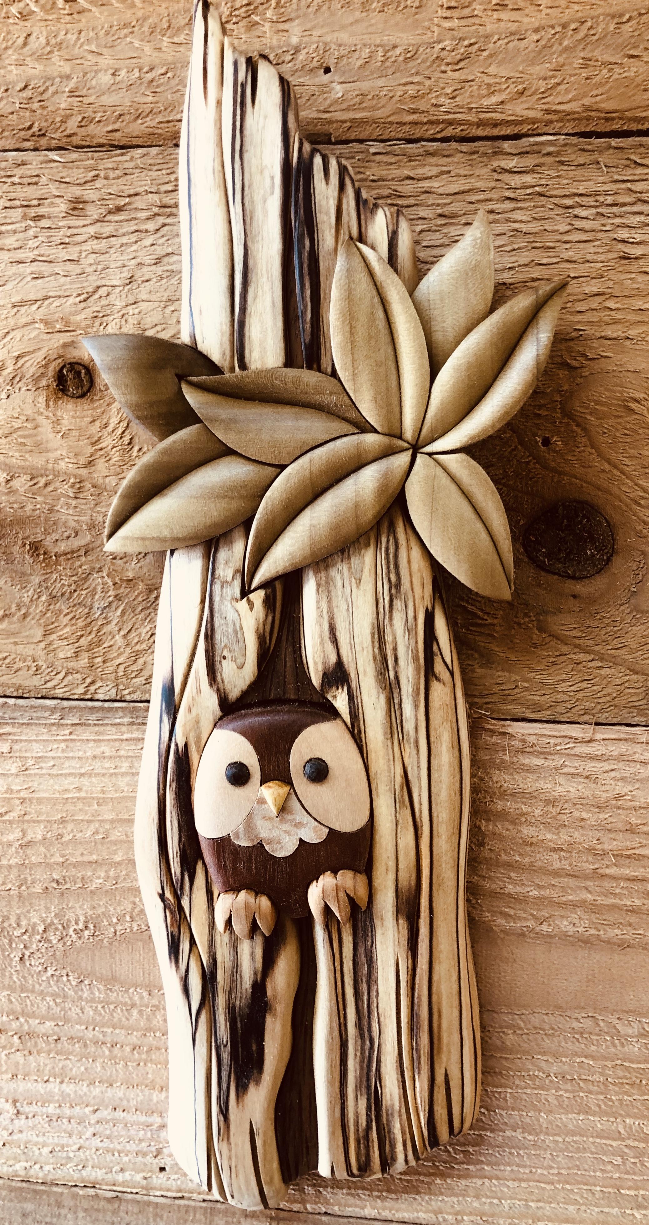 Intarsia Owl