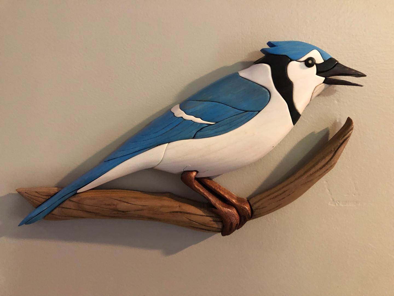 Intarsia Blue Jay   $85.