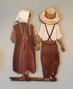 Intarsia Amish Children