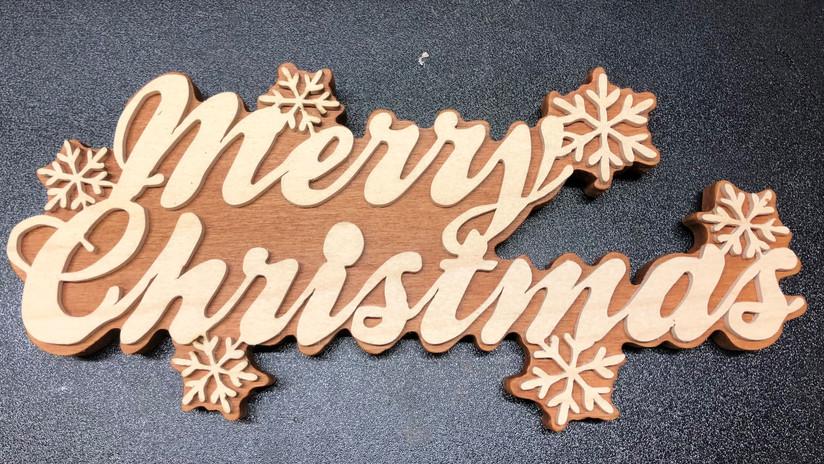 Wall Hanger Merry Christmas   $20.