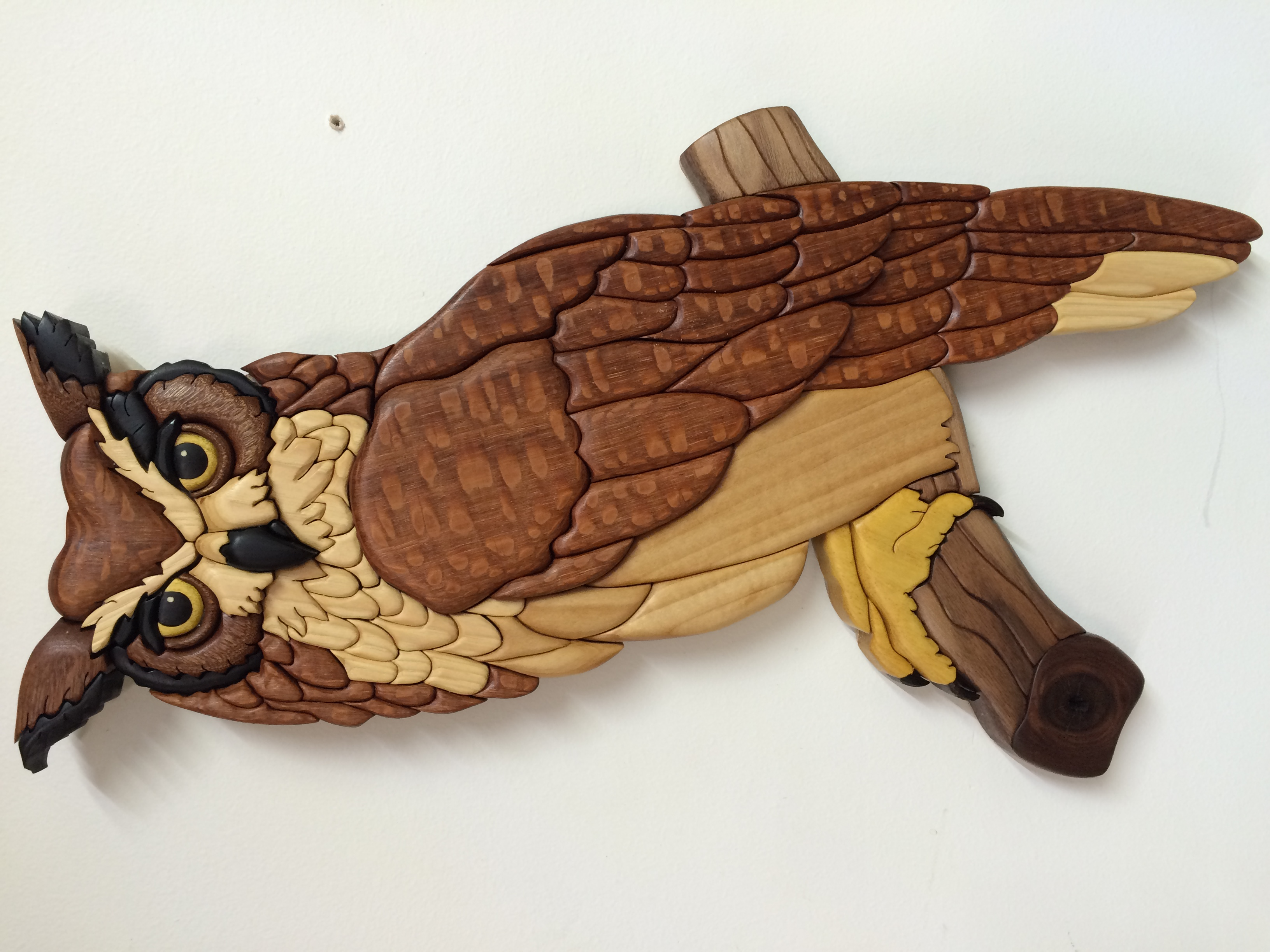 Intarsia Great Horned Owl