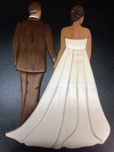Intarsia Bride and Groom   $275.