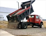 truck dump truck   tailgating gravel 1.p