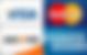 Logo Visa Mastercard Discover American Express