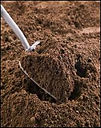 Image topsoil and shovel, Wright Landscape