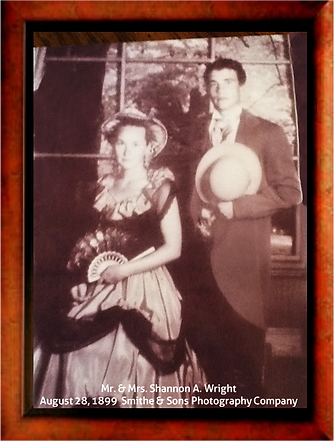 Antique style photo of Gretchen and Shannon Wright, Wright Landscape