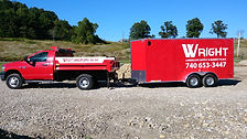 Pickup Truck and Tool Trailer, Wright Landscape