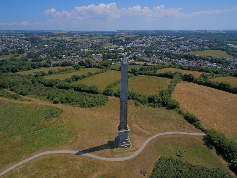 Aerial shot of Bodmin by Paul Hockaday