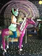 Me and my alicorn on set during rehearsal.