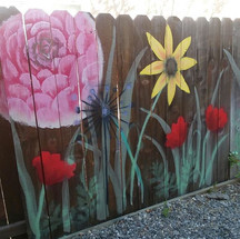 _Kundabloomi_ 🏵_Mural on an old fence i