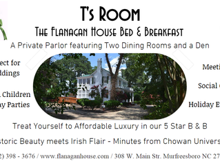Have your Party or Event at T's Room at the Flanagan House