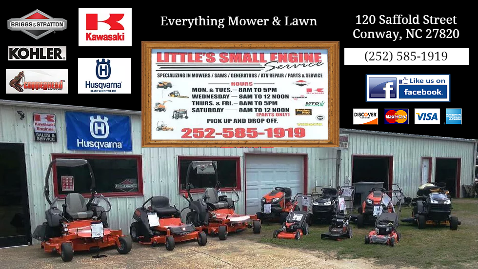 Lawn Mower Repair, Sales and Service in North Carolina