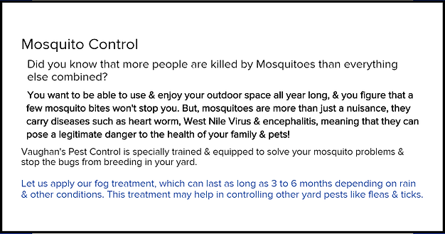 Vaughans Mosquito Control