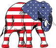 1584-Free-Clipart-Of-A-Republican-Elepha
