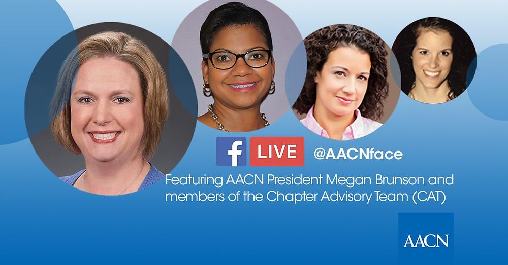 AACN President Megan Brunson with AACN Chapter Advisors