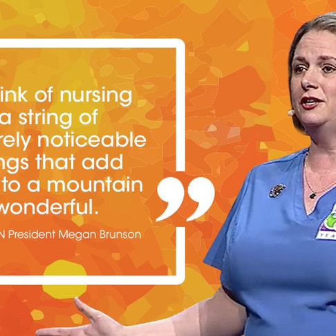 """""""The history of our profession is filled with nurses who have done extraordinary things...&quot"""
