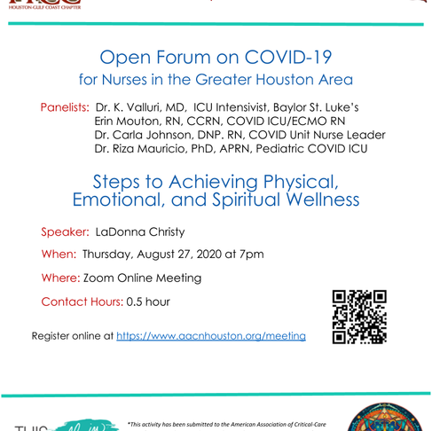 Open Forum on COVID-19 for Nurses in the Greater Houston Area