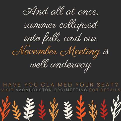 And all at once, summer collapsed into fall...