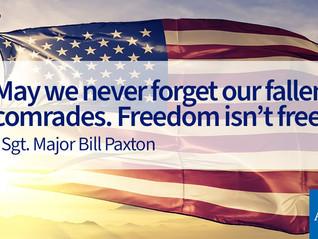 Honoring Memorial Day!