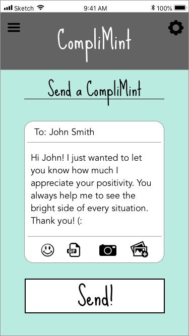 Thank You Card Compli-mint