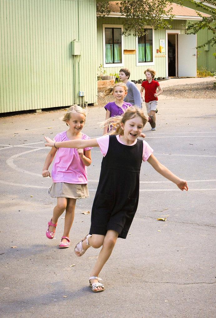 Waldof Elementary School Children Playing