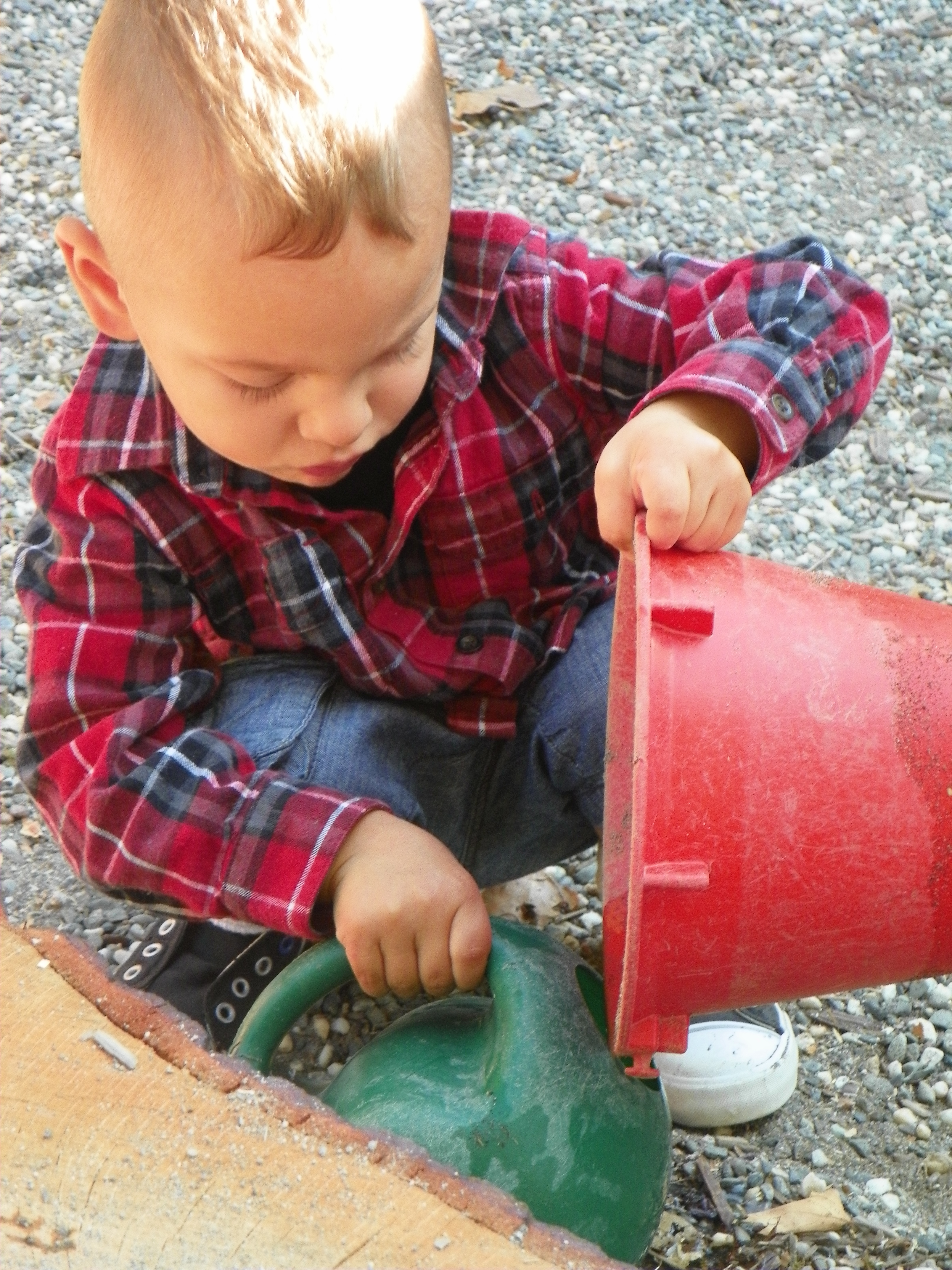 Waldorf preschool outdoor play