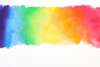 line watercolor texture in rainbow colors on white paper .jpg