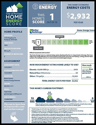 murphy home inspection.  portland home inspection. portland home inspector. energy assessor. energy score.