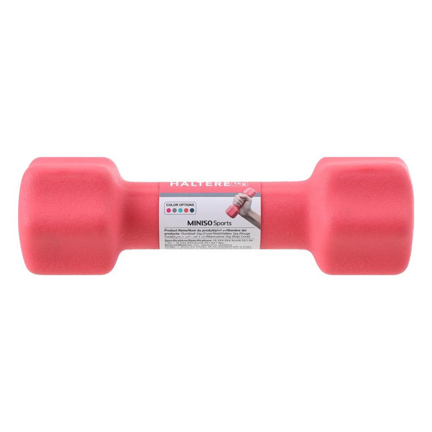 Coral red dumbbell