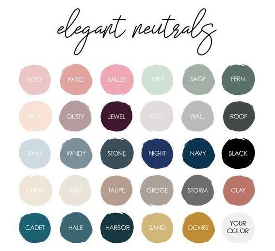 Elegant neutral colors