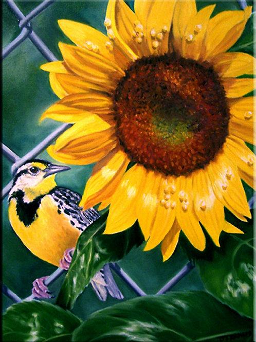 Meadowlark & Sunflower
