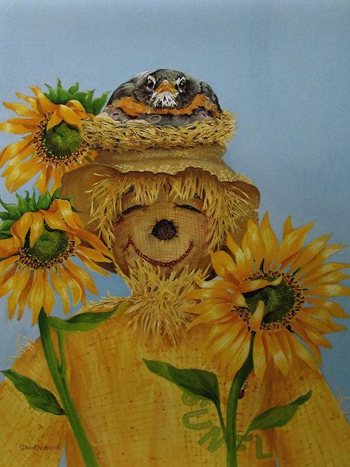 Robin & Scarecrow ~ PRINT