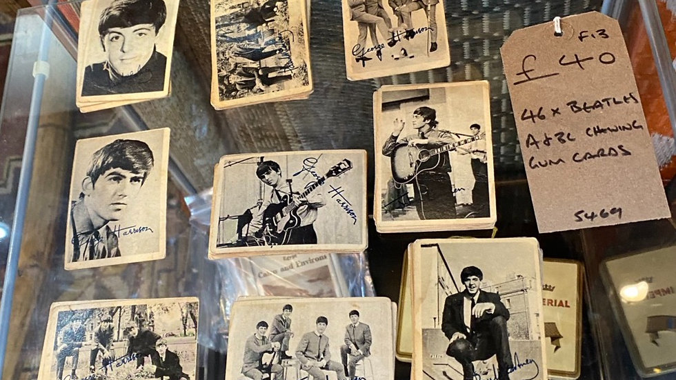 selection of vintage Beatles cards