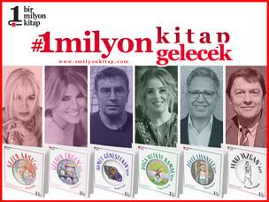 """""""1 Milyon Kitap"""" projesine tanınmış isimlerden tam destek"""