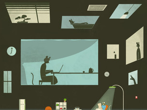 Murakami öykülerinden ilham alan çizimler