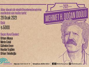 Mehmet H. Doğan Ödülü'ne Başvurular Sürüyor