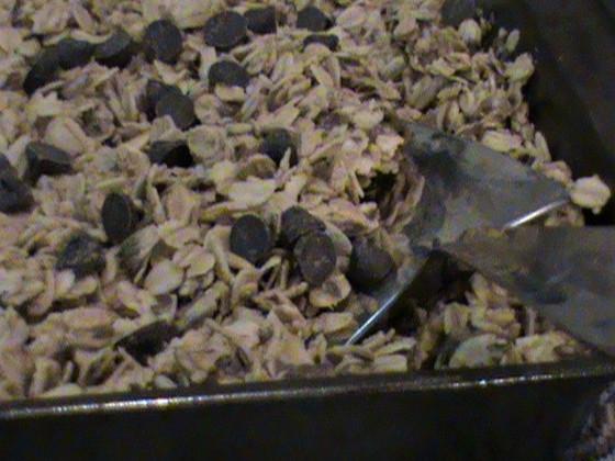 Home made Gluten free peanut/carob granola cereal