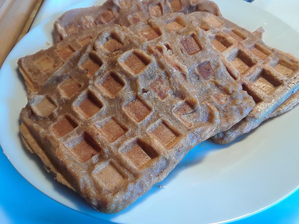Gluten Free Rhubarb Waffles