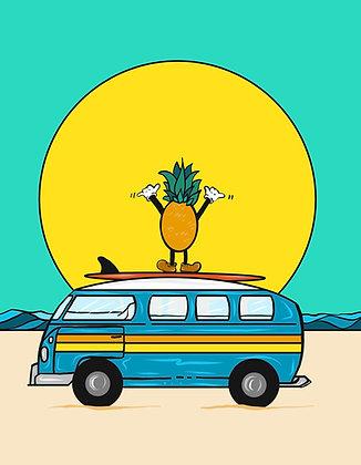 Shaka Pineapple Bus