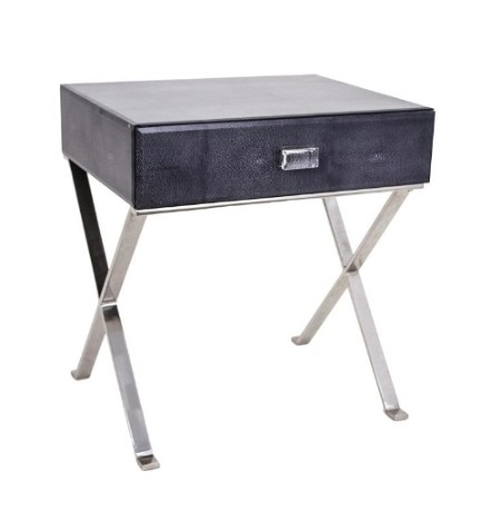 Dark Grey Sienna Shagreen Side Table