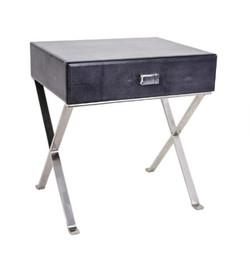 Dark Grey Sienna Shagreen Side Table