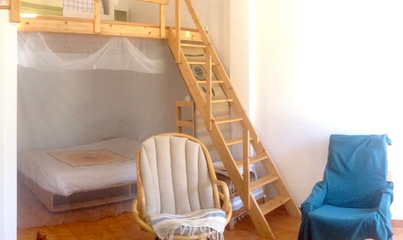 DOUBLE BED AND CHAIRS
