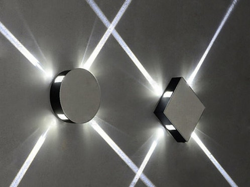 Square Round Wall Light