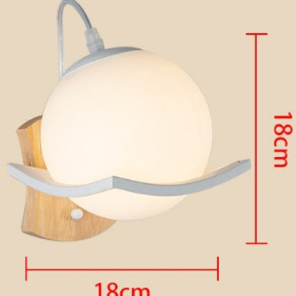 Ball Shade Wall Light--Soft Light